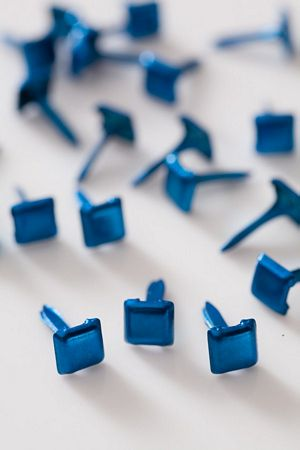Mini Square Dark Blue Studs