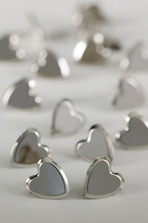 Large Plain Heart Silver Studs