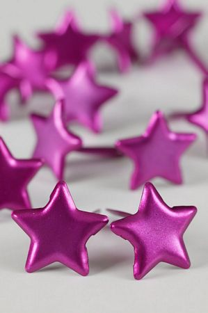 Pink Large Star Studs