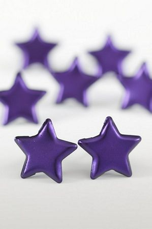 Purple Large Star Studs