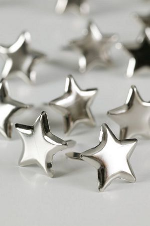 Silver Star Studs Large