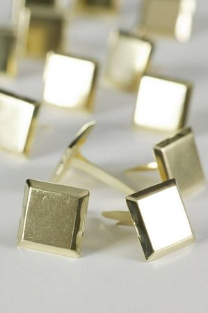 Large Gold Square Studs